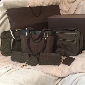 Louis Vuitton Bags - Louis Vuitton Mini Lin/Monogram Idylle Canvas Set